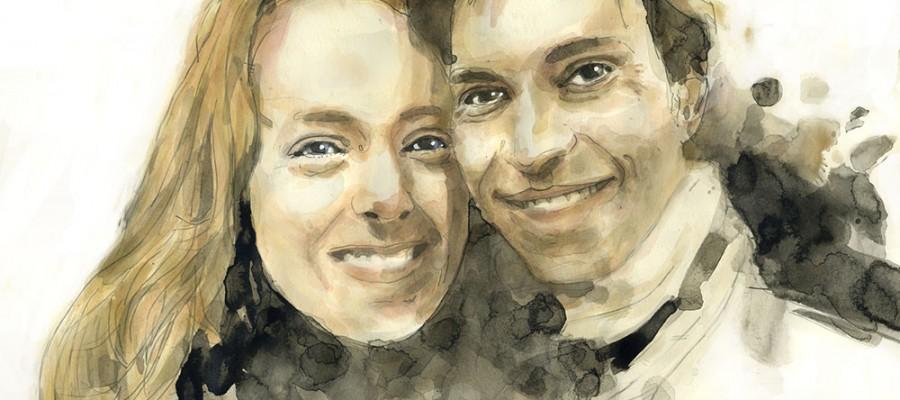 Portrait of a couple of friends